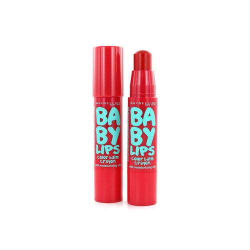 Maybelline Baby Lips Color Balm Crayon - 005 Candy Red (2 Stuks)