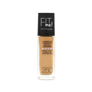 Fit Me Luminous + Smooth Foundation - 250 Sun Beige