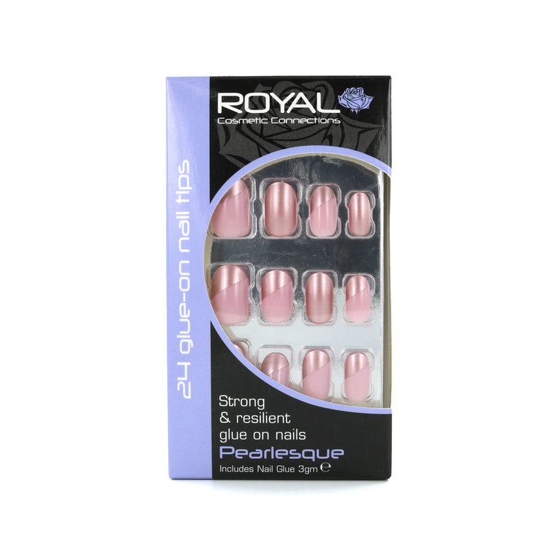 Royal 24 Glue-On Nail Tips - Pearlesque (Met nagellijm)
