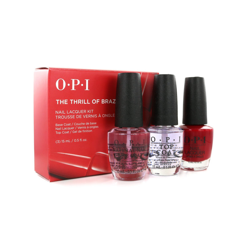 O.P.I Nail Lacquer Kit - The Thrill Of Brazil (Basecoat, Topcoat & Nagellak)