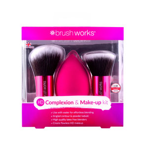 HD Complexion Sponge & Kabuki Brush Set