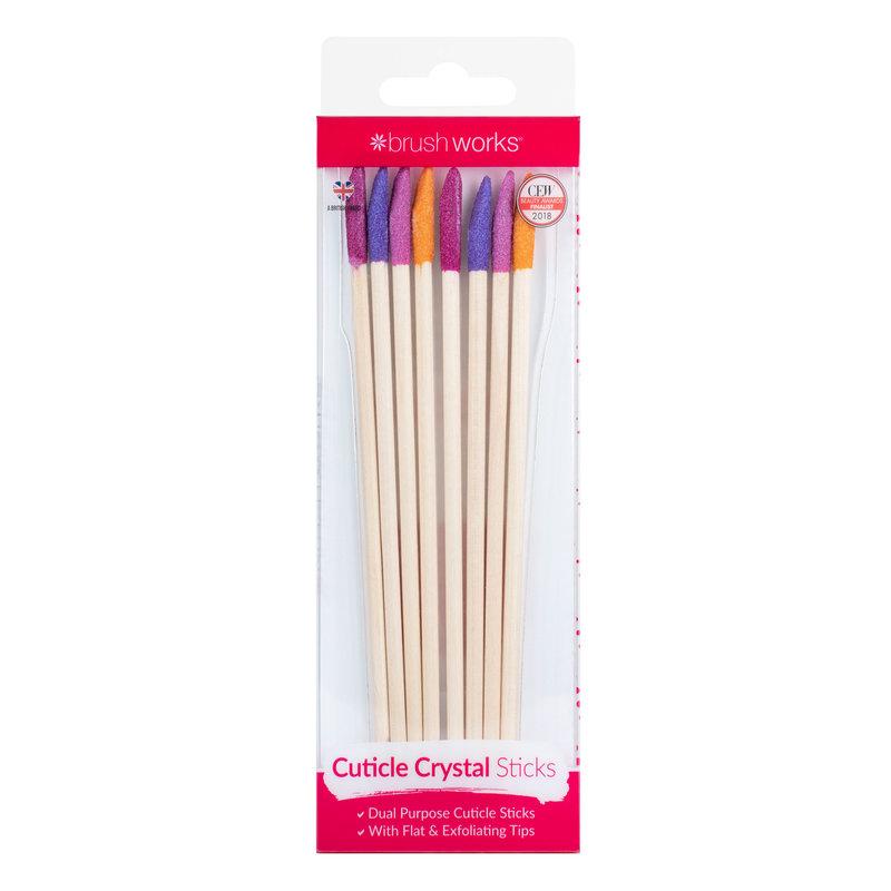 Brushworks Cuticle Crystal Sticks (8 Stück)