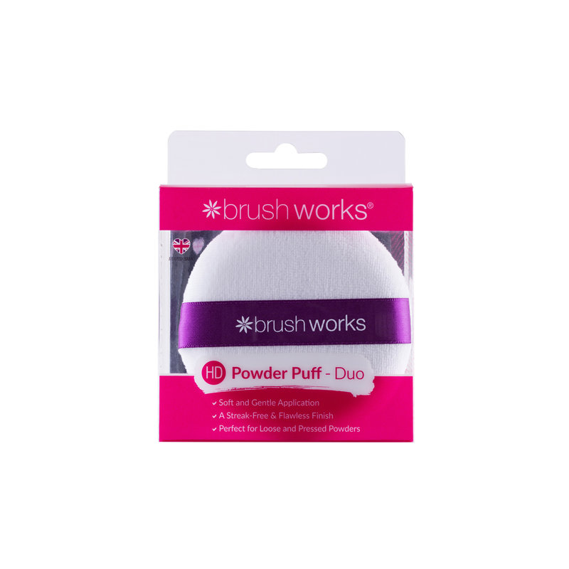 Brushworks Powder Puff (2 stuks)