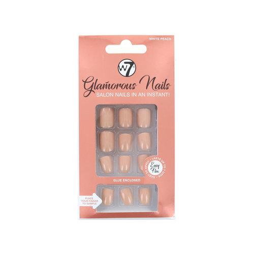 W7 Glamorous Nails - White Peach (met nagellijm)