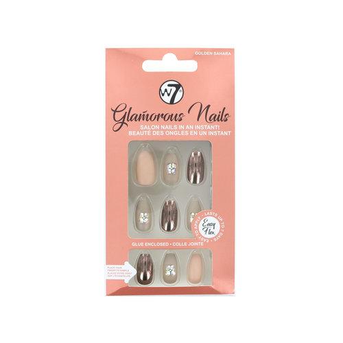 W7 Glamorous Nails - Golden Sahara (met nagellijm)