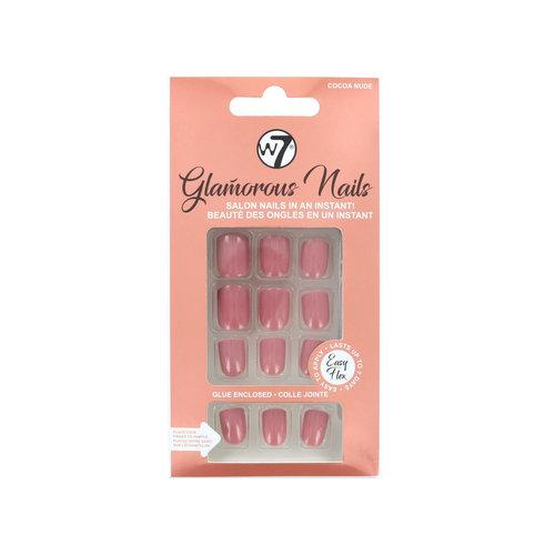 W7 Glamorous Nails - Cocoa Nude (met nagellijm)