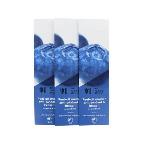 Dr. van der Hoog Peel-Off Masker Anti-Oxidant & Bessen - Normale Huid (3 stuks)