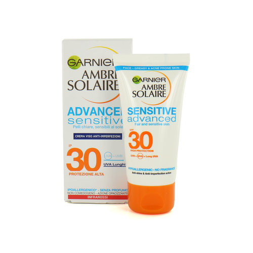 Garnier Ambre Solaire Advanced Sensitive SPF 30 Zonnebrandcrème - 50 ml (buitenlandse verpakking)