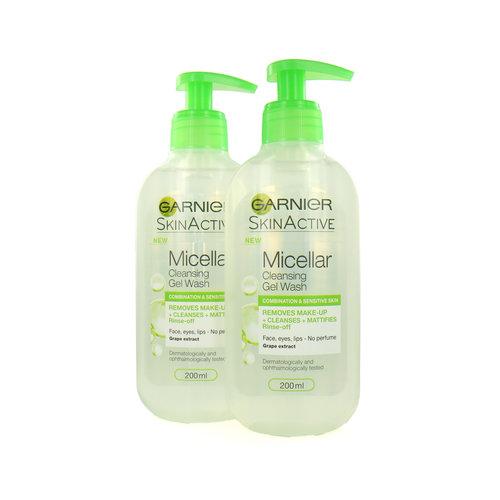Garnier Skin Active Micellar Cleansing Gel Wash (set van 2)
