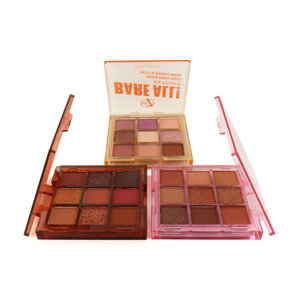 Bare All! Pressed Pigment Oogschaduw Palette - Uncovered-Exposed-Raw (set van 3)
