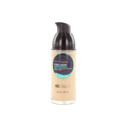 Maybelline Pure Liquid Mineral Foundation - 010 Ivory