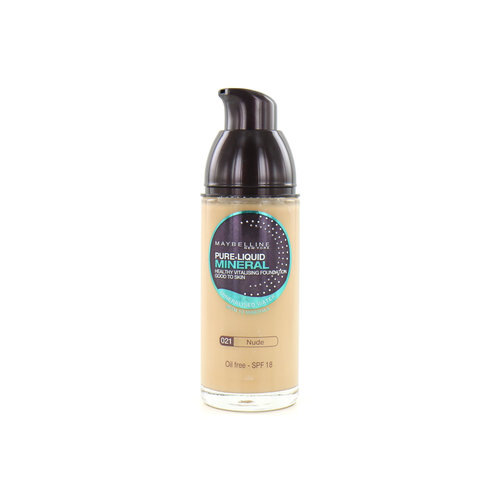 Maybelline Pure Liquid Mineral Foundation - 021 Nude