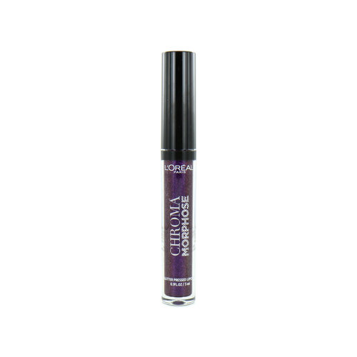 L'Oréal Chroma Morphose Glitter Pressed Lipstick - 04 Deep Venom
