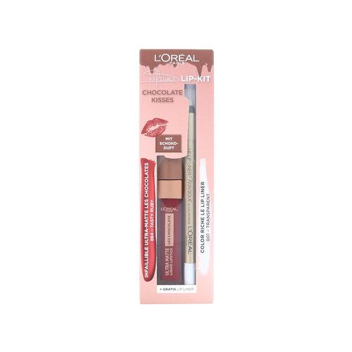 L'Oréal Chocolate Kisses Lip Kit - 864 Tasty Ruby - 001 Transparent (Duitse versie)