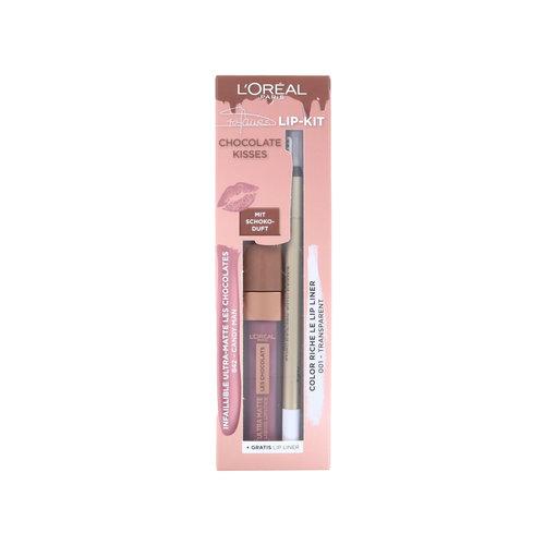 L'Oréal Chocolate Kisses Lip Kit - 842 Candy Man - 001 Transparent (Duitse versie)