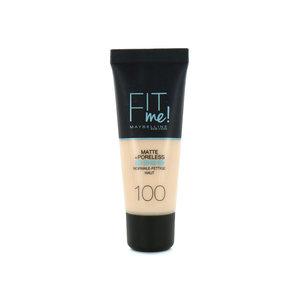 Fit Me Matte + Poreless Foundation - 100 Warm Ivory