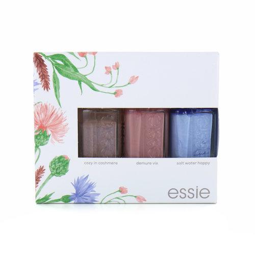 Essie Trio Nagellak - Cozy In Cashmere - Demure Vix - Salt Water Happy