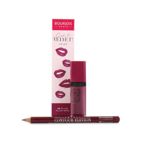 Bourjois Ooh La Velvet Lipstick & Lipliner - 14 Plum Plum Girl