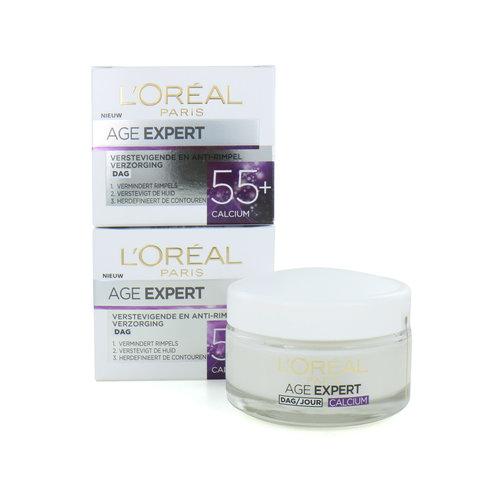 L'Oréal Age Expert 55+ Dagcrème - Calcium (Set van 2)
