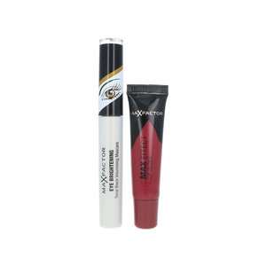 Eye Brightening Mascara + Max Effect Lip Gloss - For Hazel Eyes - Rubylicious