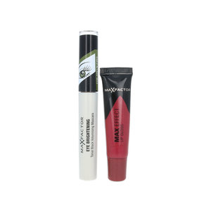 Eye Brightening Mascara + Max Effect Lip Gloss - For Green Eyes - Rubylicious