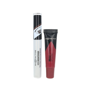 Eye Brightening Mascara + Max Effect Lip Gloss - For Brown Eyes - Rubylicious