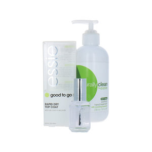 Hand Treatment + Good To Go Topcoat - 1 x 15 ml, 1 x 236 ml (set van 2)