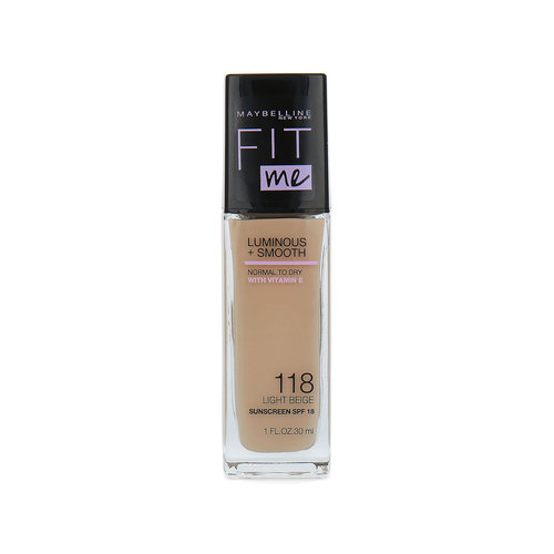 Maybelline Fit Me Luminous + Smooth Foundation - 118 Light Beige