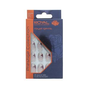 24 Glue-on Nails - Royal Gems