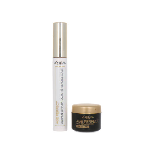 L'Oréal Age Perfect Cadeauset - Mascara black + 4 ml Age Perfect Cell Renaissance Daycream