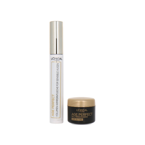 L'Oréal Age Perfect Cadeauset - Mascara brown + 4 ml Age Perfect Cell Renaissance Daycream