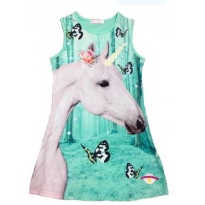 De kunstboer Mouwloos kleedje unicorn