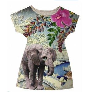 De kunstboer Gecentreerd kleedje met print van een olifant