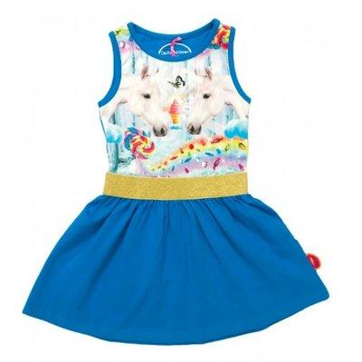 leuk blauw jurkje