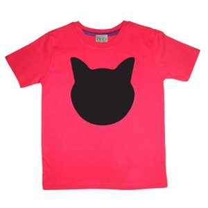 Little Mashers Rode krijt T-shirt met kat