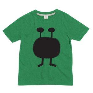 Little Mashers Groene krijt T-shirt met een monstertje