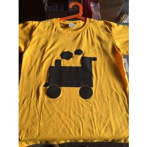 Little Mashers Gele krijt T-shirt met een trein