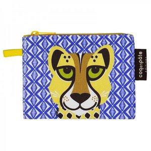 Coq en pâte Coq en pâte - blauwe portemonnee 'cheetah'