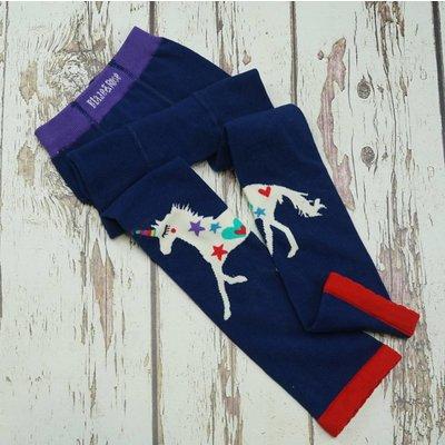 Blade and Rose Donkerblauwe legging met unicorn
