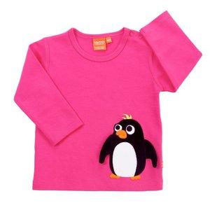 Lipfish Roze longsleeve met een pinguin