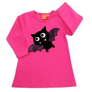 Lipfish Roze kleedje met een vleermuis