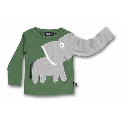 ubang Groene longsleeve met een olifant