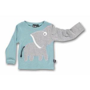 ubang Lichtblauwe longsleeve 'olifant'