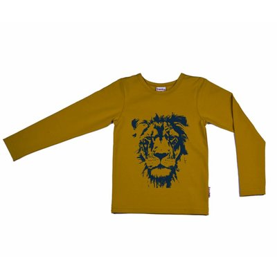 Baba-Babywear Oker longsleeve met een leeuw