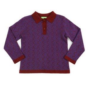 Lily Balou Damian polo knit 'brick'