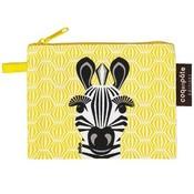 Coq en pâte Leuke gele portemonnee met opdruk van een zebra