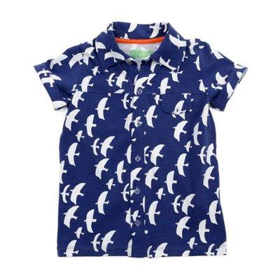 Lily Balou Tricot hemdje 'zeemeeuw'