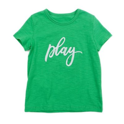 Lily Balou Groene T-shirt 'play'
