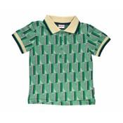 Baba-Babywear Polo 'jacquard green stripes'