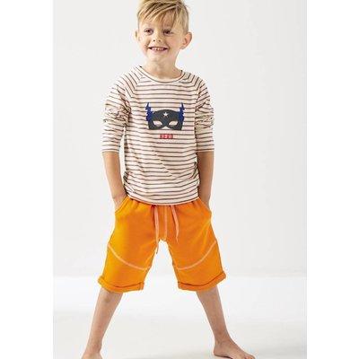 little label Oranje gestreepte longsleeve 'hero'